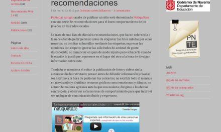 Jóvenes y Redes sociales: recomendaciones [ParaPNTE]