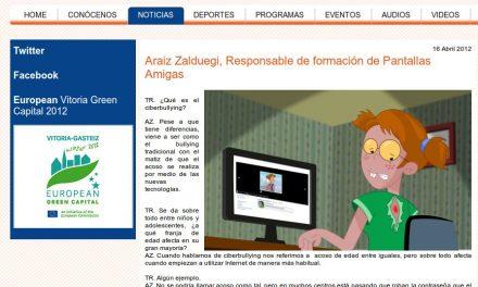 [Audio] Araiz Zalduegi, Responsable de formación de Pantallas Amigas [Tu Radio Vitoria]