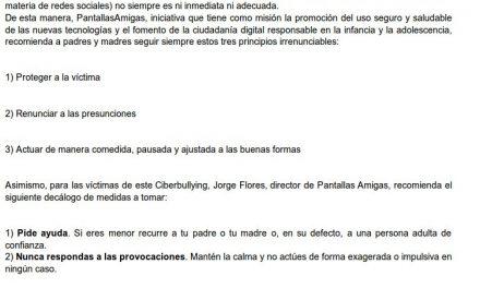 El Ciberbullying: conocer, prevenir, reconocer y actuar [Cantabria Liberal et al.]