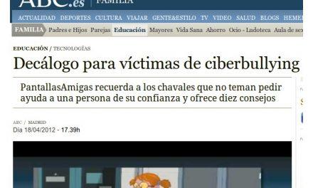 Decálogo para víctimas del ciberbullying [ABC.es]