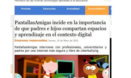 PantallasAmigas incide en la importancia de que padres e hijos compartan espacios y aprendizaje en el contexto digital [Aula y +]