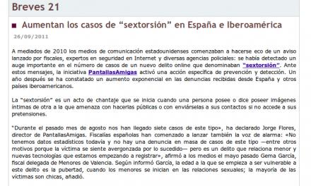 """Aumentan los casos de """"sextorsión"""" en España e Iberoamérica [Tendencias21.net]"""