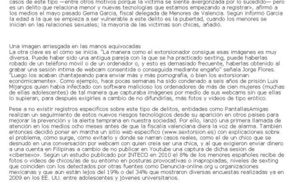 """Aumento de los casos de """"sextorsión"""" en España e Iberoamérica [RevCyL.com]"""