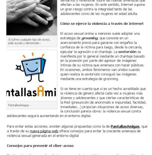 Aumenta la violencia sexual en internet [ParaSaber.com]