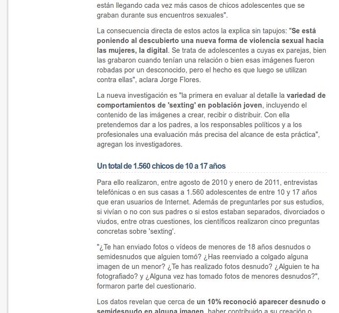 El 'sexting' juvenil crece [ElMundo.es]
