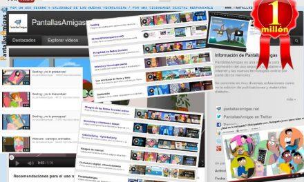 Un millón de espectadores online: el éxito de los vídeos educativos de PantallasAmigas