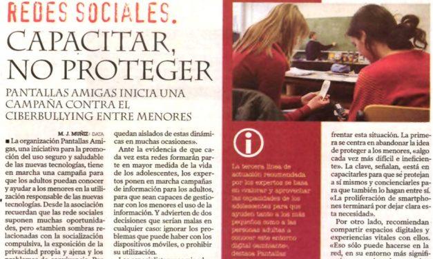 Redes sociales: capacitar, no proteger [Diario de León]