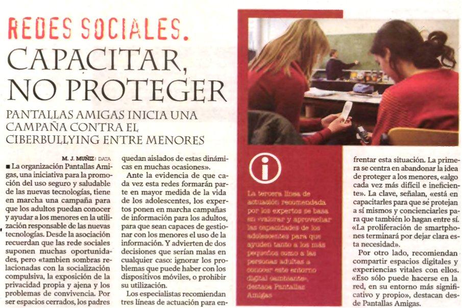 Redes sociales: capacitar, no proteger