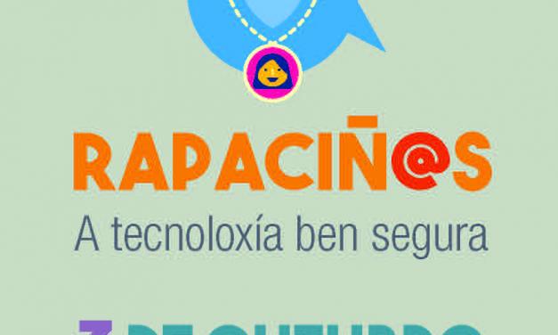 Talleres lúdicos para menores sobre tecnología segura en la jornada Rapaciñ@s