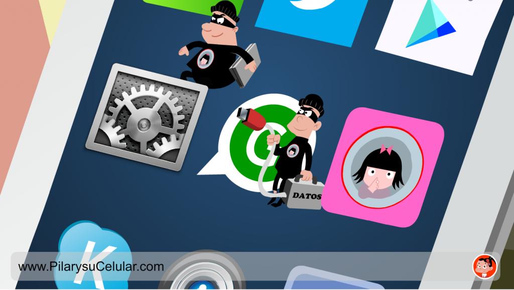 Fotograma del capítulo sobre cesión de datos al instalar apps de Pilar y su celular