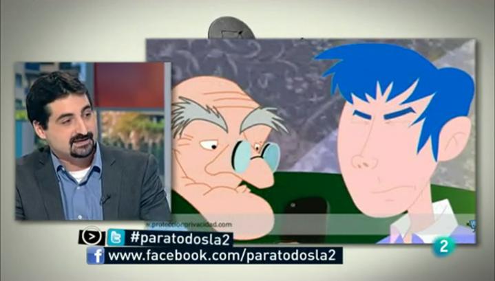 Animación de PantallasAmigas acompaña debate acerca de ciberdelitos en programa Para todos La2 de TVE