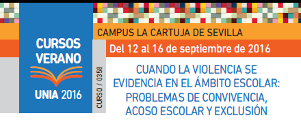 Violencia en el ámbito escolar: problemas de convivencia, acoso escolar y exclusión. Curso verano UNIA