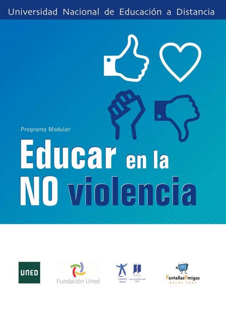 Cartel Curso UNED_Educar en la no violencia 2015-16