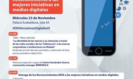 Cuarta edición de los reconocimientos de Deia a las mejores iniciativas en medios digitales