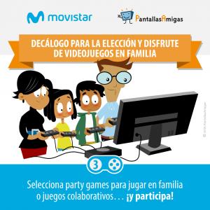 Decálogo para la elección y disfrute de videojuegos en familia - PantallasAmigas - Movistar -03