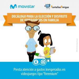 Decálogo para la elección y disfrute de videojuegos en familia - PantallasAmigas - Movistar -04