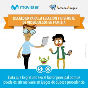 Decálogo para la elección y disfrute de videojuegos en familia - PantallasAmigas - Movistar -05