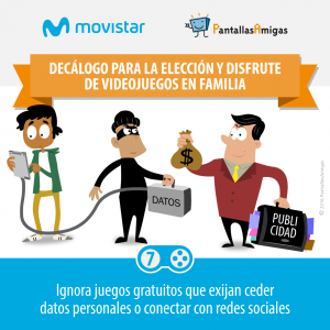 Decálogo para la elección y disfrute de videojuegos en familia - PantallasAmigas - Movistar -07