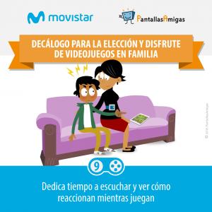 Decálogo para la elección y disfrute de videojuegos en familia - PantallasAmigas - Movistar -09