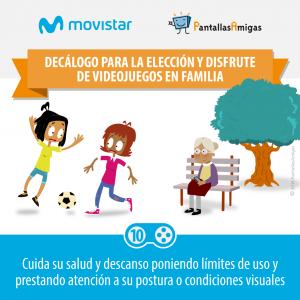 Decálogo para la elección y disfrute de videojuegos en familia - PantallasAmigas - Movistar -10