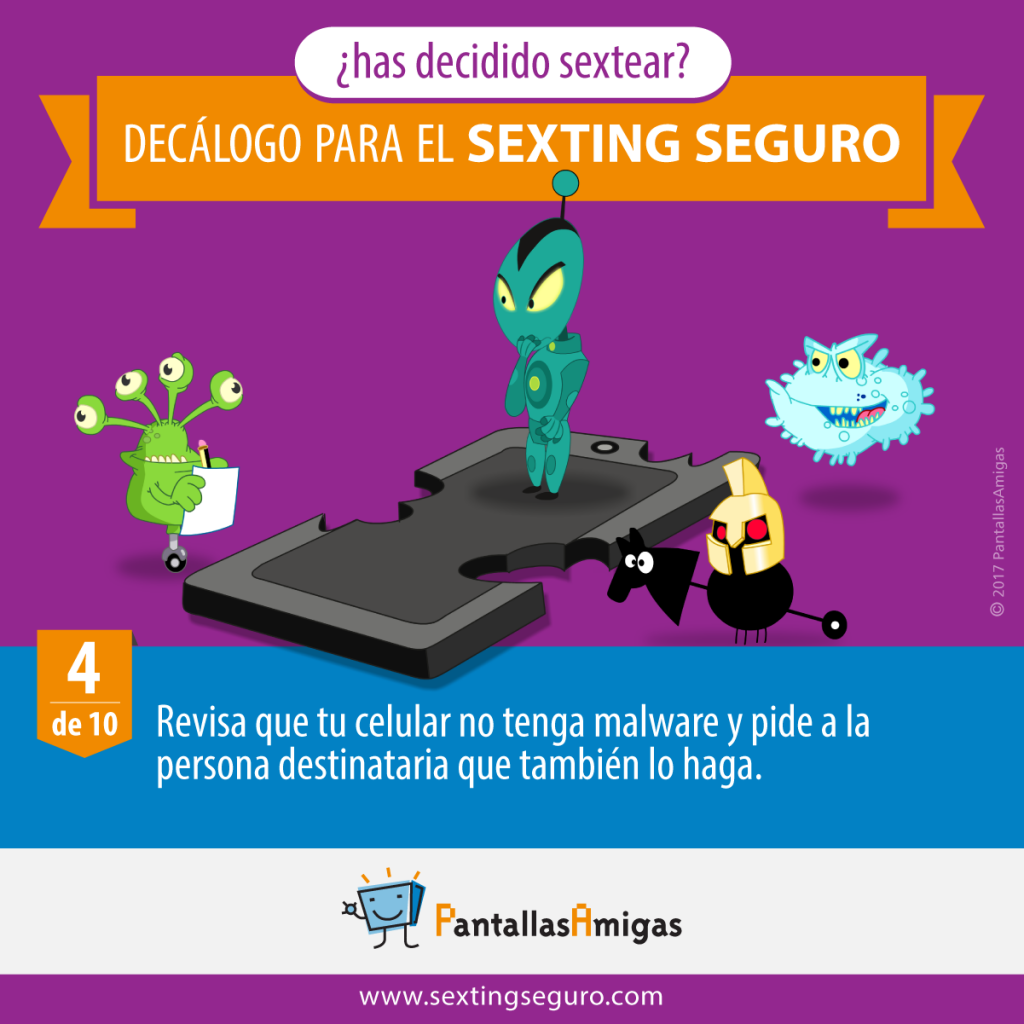 Revisa que tu celular no tenga malware y pide a la persona destinataria que también lo haga.