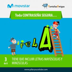 Movistar PantallasAmigas Clave contraseña segura 3