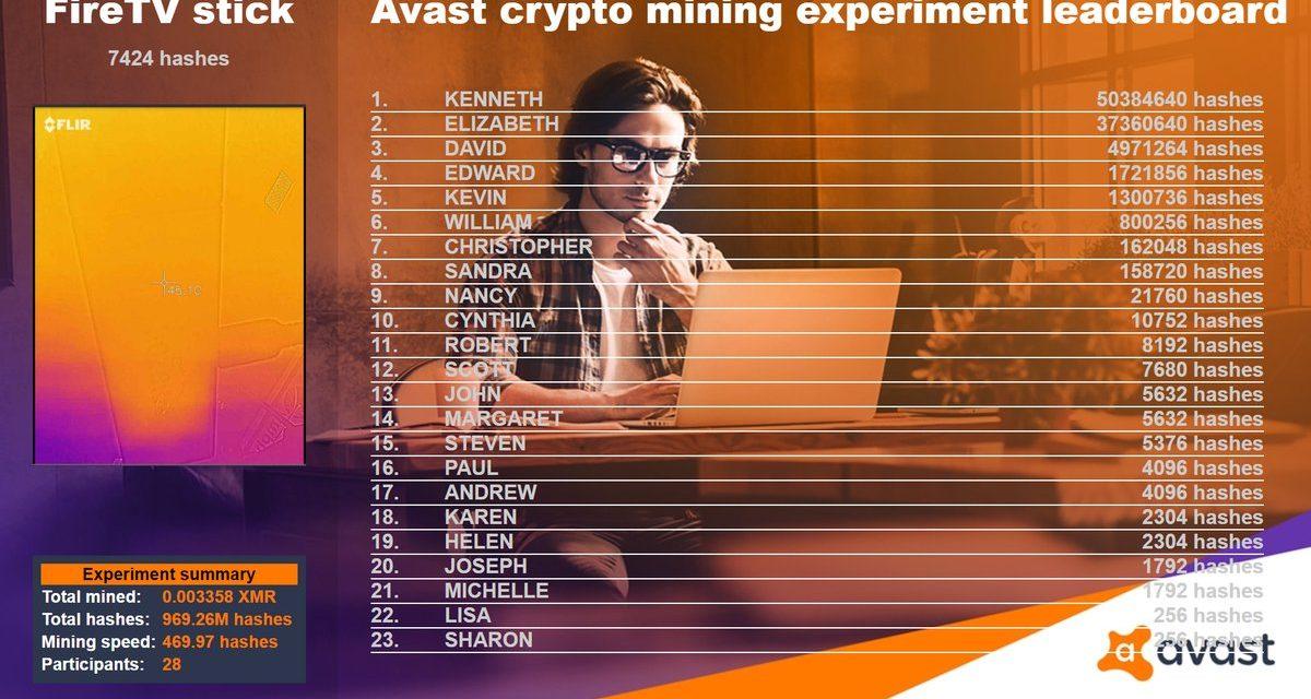 Avast experimenta ofreciendo minar criptomonedas en la Mobile World Congress 2018 para concienciar sobre el malware de criptominería