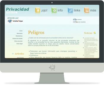 Captura de Privacidad-online.net