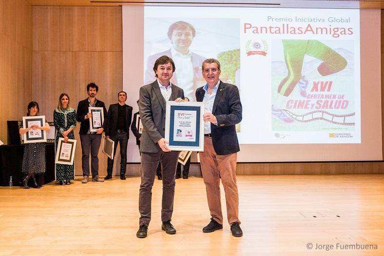PantallasAmigas, Premio Cine y Salud 2018 del Gobierno de Aragón en la categoría de Iniciativa Global