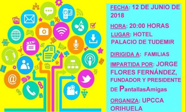 Servicio de prevención de conductas adictivas organiza charla sobre sin abuso de internet, videojuegos y móviles. Orihuela.