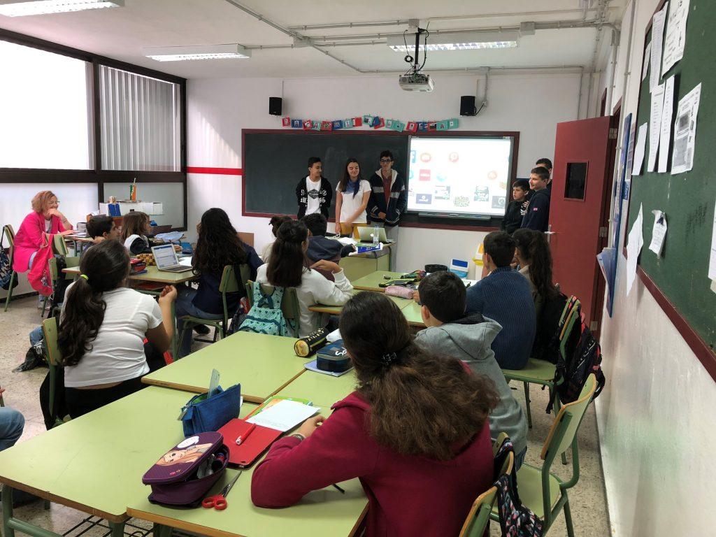 Cibermanagers en el Colegio IES Heidelberg, Las Palmas de Gran Canaria