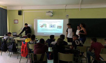 Cibermaganers en el Colegio IES El Batán, Las Palmas de Gran Canaria