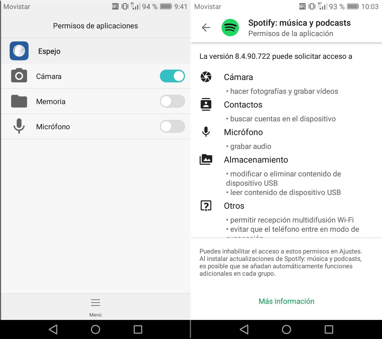 Aplicaciones-Spotify-Espejo-Permisos-Privacidad