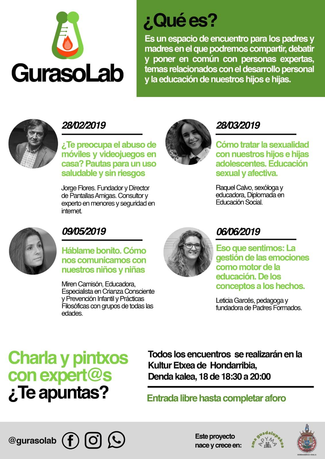 programa GurasoLab jornadas encuentro educación digital Hondarribi