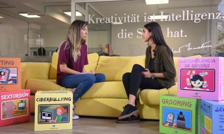 Una alumna del colegio Heidelberg lanza un proyecto divulgativo sobre riesgos en Internet con el material de PantallasAmigas