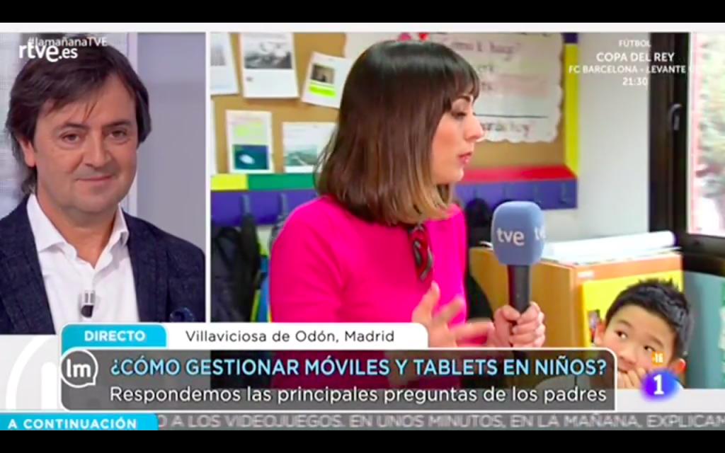 Jorge Flores habla de uso saludable digital en La Mañana de TVE