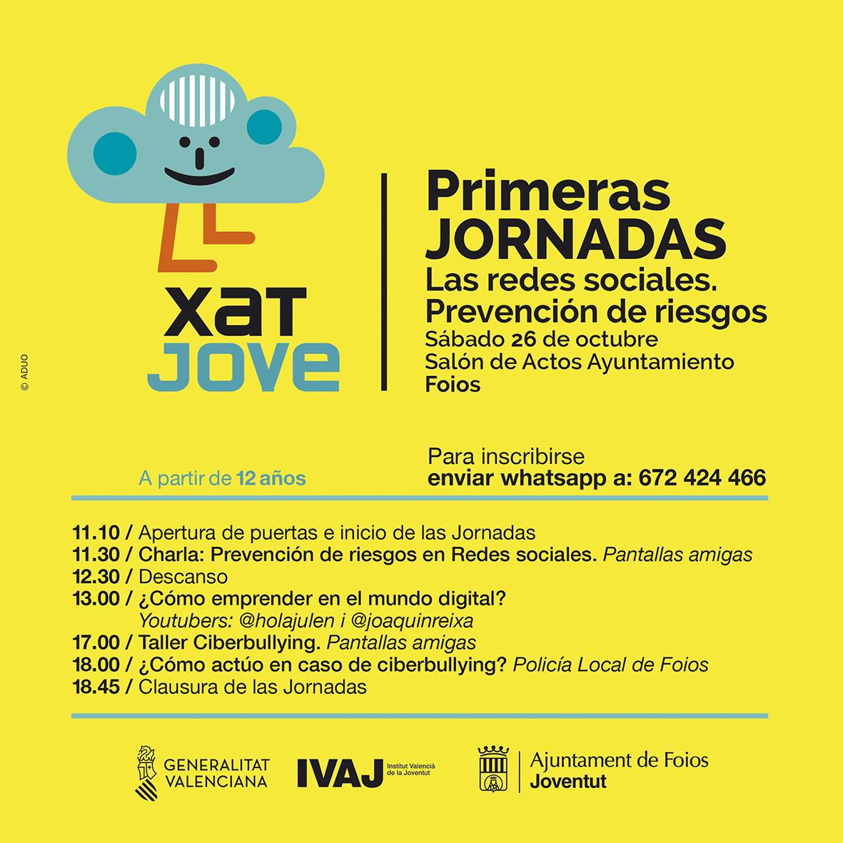 Jornada XatJove - Foios - Las redes sociales. Prevencion de riesgos