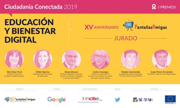 I Premios PantallasAmigas, con motivo de su XV aniversario