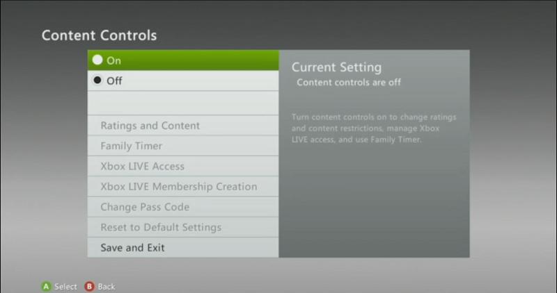 Configurar el control paterno en Xbox