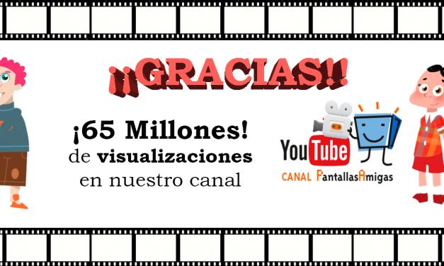 El canal de YouTube de PantallasAmigas supera los 65 millones de visualizaciones