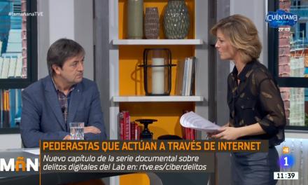 Jorge Flores trata el tema del grooming, ciberacoso sexual a menores en La Mañana de RTVE