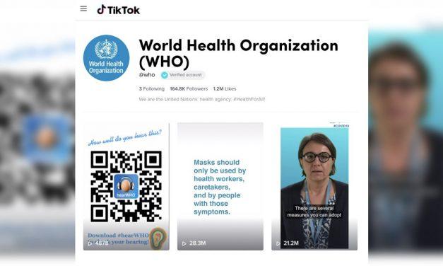 La Organización Mundial de la Salud OMS utiliza TikTok para informar sobre el Coronavirus