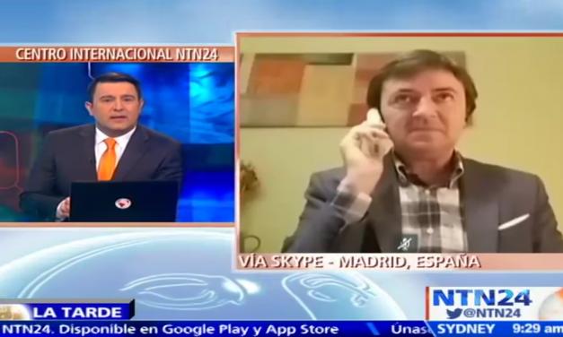 """""""Internet es un medio maravilloso pero propicio para hacer daño"""" Jorge Flores habla sobre sextorsión en el canal internacional NTN24"""