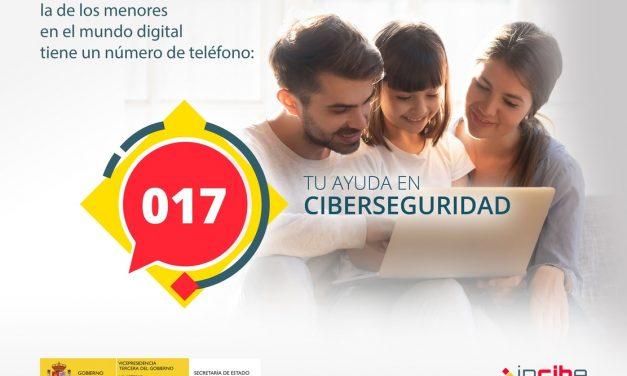 Teléfono de ayuda en Ciberseguridad de INCIBE 017