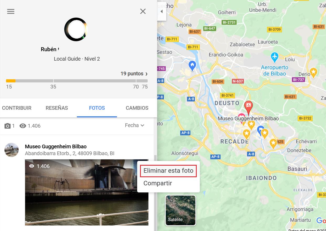 Cómo eliminar fotografías subidas a Google Maps y Local Guides