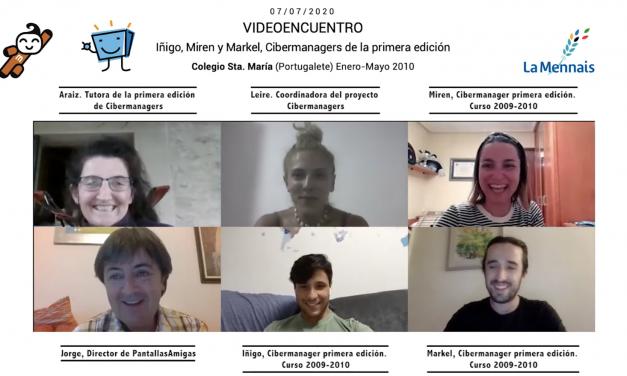 Los Cibermanagers Iñigo, Miren y Markel, se reencuentran 10 años después de su experiencia