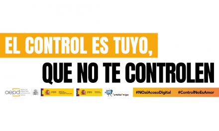 'El control es tuyo, que no te controlen', campaña de la AEPD y los ministerios de Educación e Igualdad, junto a PantallasAmigas