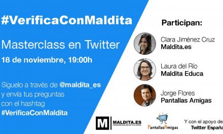 Masterclass #VerificaConMaldita para promover el pensamiento crítico y combatir la desinformación