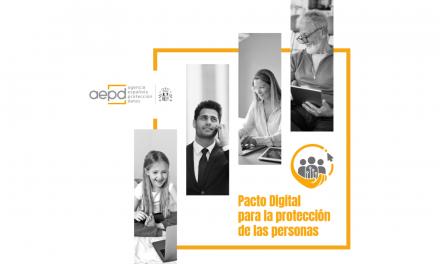 Pacto Digital para la protección de las personas impulsado por AEPD