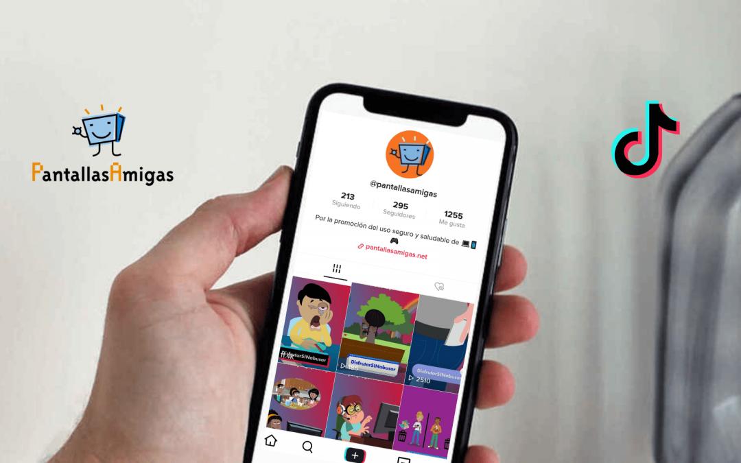 PantallasAmigas utiliza TikTok para aprovechar sus cualidades para la sensibilización, la educación y el aprendizaje